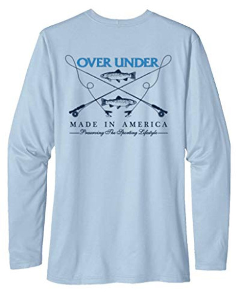 Over Under Tidal Tech Trout Essentials Long Sleeve Tee Shirt Arctic Blue