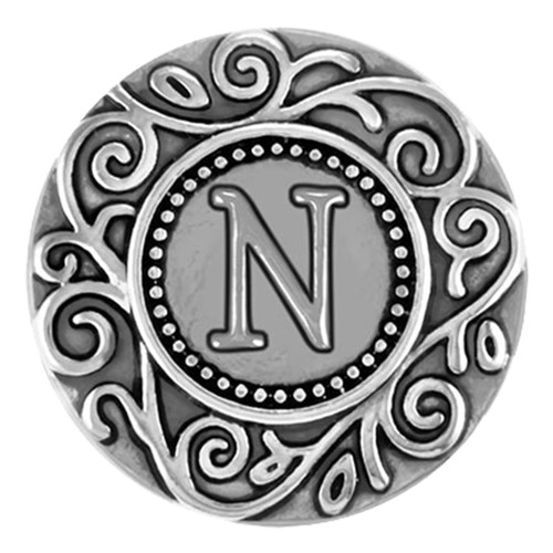 Ginger Snaps Filigree Initial Snap-N