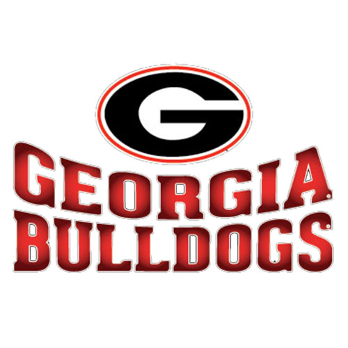 Georgia Bulldogs Arched Lettering Decal Red