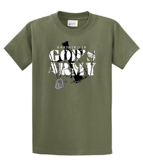 Enlisted In God's Army Christian Dog Tags Jesus Prayer Faith Unisex Short Sleeve T-shirt