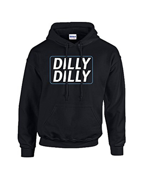 Trenz Shirt Company Funny Beer Drinking Dilly Dilly Adult Hooded Sweatshirt Black