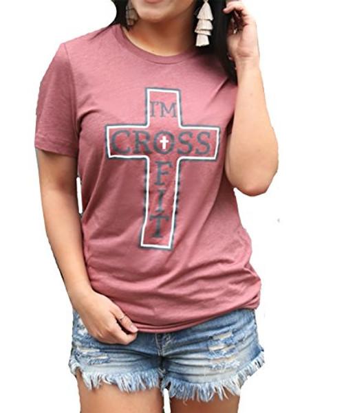 ATX Mafia I'm Crossfit Triblend Short Sleeve T-Shirt-Mauve-Large