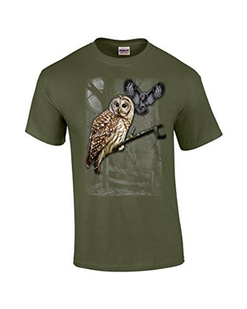 Owl Wilderness Adult Tee Shirt Military