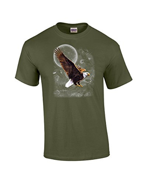 Eagle in The Wilderness Adult Tee Shirt Military