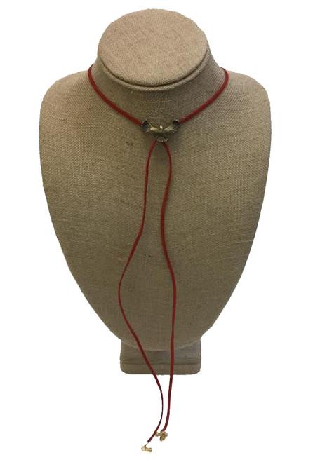 Betsy Pittard Designs Nathan Wrap Lariat Necklace-Red