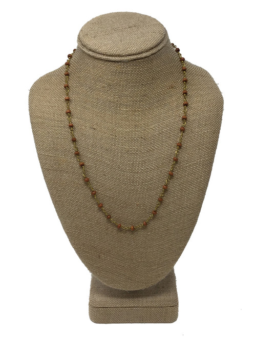 Raw and Rebellious Limitless 22 Inch Layering Necklace, Brown
