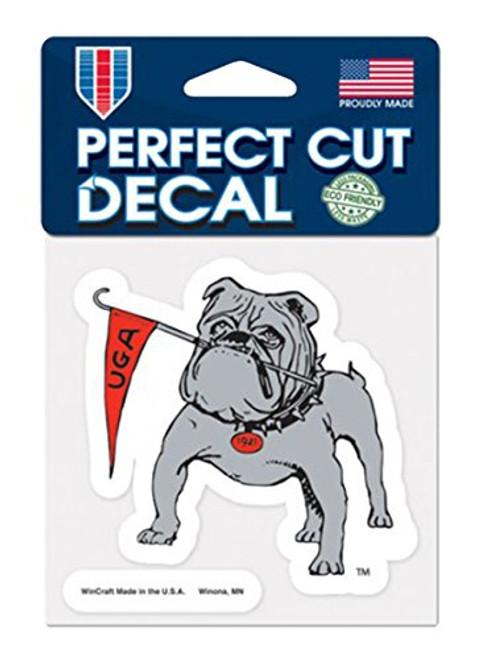 Collegiate Georgia Bulldogs Mascot Perfect Cut Decal- 4 X 4 Inches