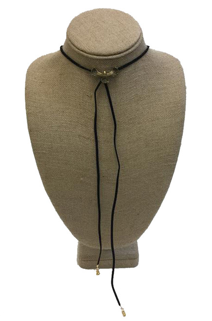 Betsy Pittard Designs Nathan Wrap Lariat Necklace-Black