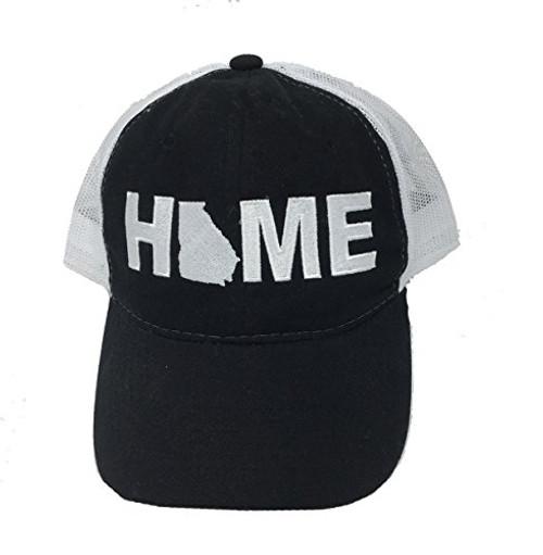 Heritage Pride Georgia Home Mesh Trucker Hat Black
