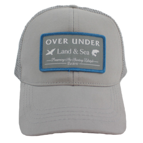 Over Under Land and Sea Mesh Back Hat-cloud grey