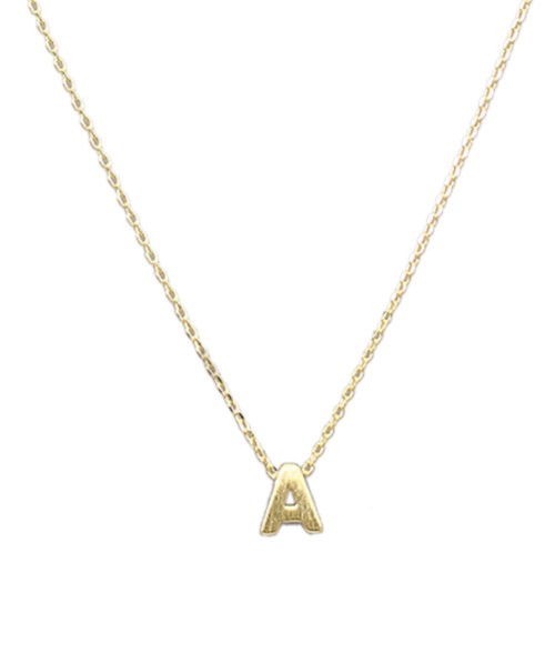 Women's Dainty Gold Initial Necklace