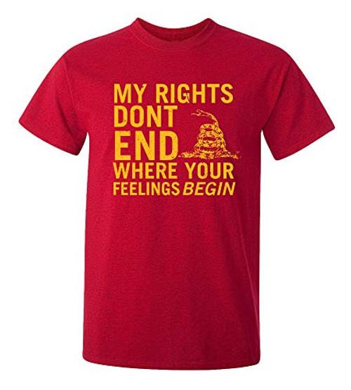 Rights Don't End Where Feelings Begin 2Nd Amendment Tee Shirt Antcherry