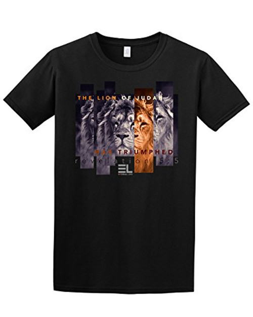 The Lion of Judah Has Triumphed Christian Adult Tee Shirt Black