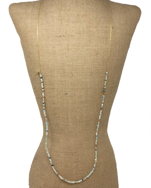 Betsy Pittard Designs Layering Dainty Necklace, Mixed Neutrals
