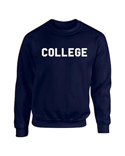Animal House 'College' Crew Neck Sweatshirt Navy Blue