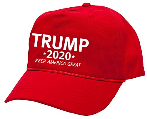 Political Trump 2020 Keep America Great Embroidered Rope Hat Red