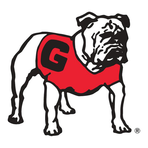Craftique University of Georgia Standing Bulldog 12 Inch Decal