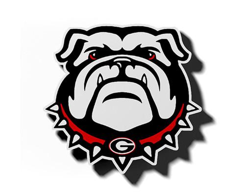 Craftique University of Georgia Bulldog Head Magnet-12 Inch
