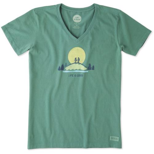 Life Is Good Womens Vista Hike Crusher V-neck Short Sleeve T-shirt