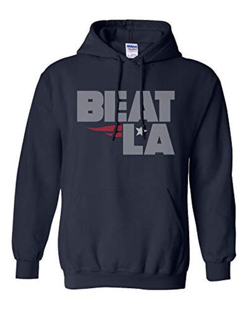 Patriots Beat LA Adult Unisex Pullover Hoodie navy