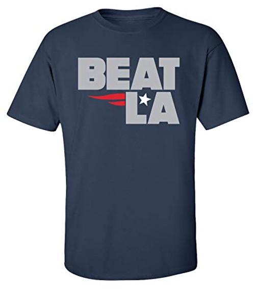 Patriots Beat LA Adult Unisex Short Sleeve Tee Shirt Navy