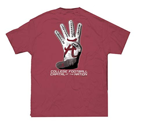 Campus Collection Alabama Football Capital Unisex Short Sleeve Pocket T-shirt