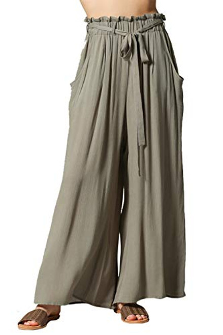 By Together Highwaisted Pants with Self Tie Belt