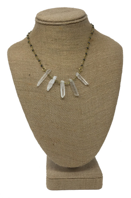 Raw & Rebellious Play Fire Crystal Spike Necklace
