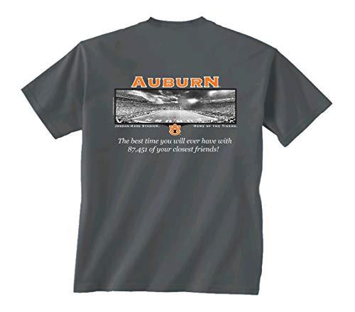 New World Graphics AUB Friends Stadium Short Sleeve Tee Shirt Charcoal
