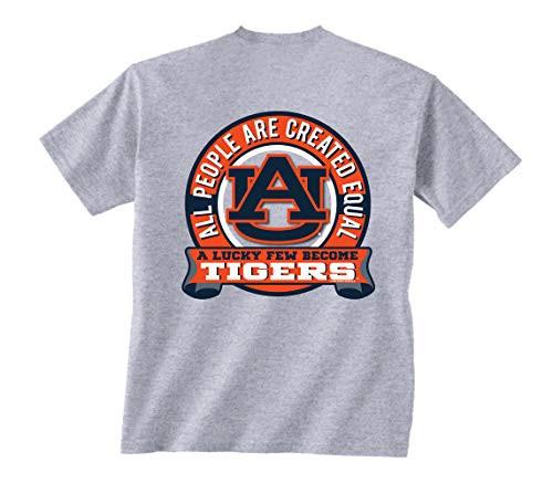 New World Graphics Auburn Tigers Equal Short Sleeve Tee Shirt Sport Grey