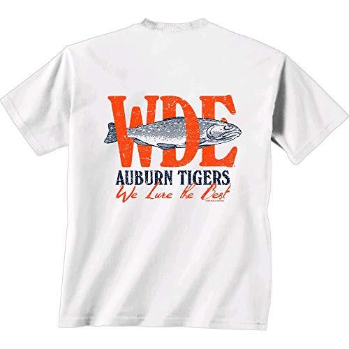 New World Graphics NCAA Auburn Tigers We Lure Short Sleeve Shirt White