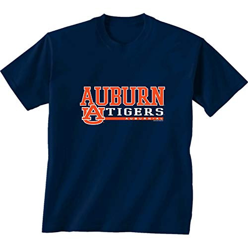 New World Graphics NCAA Auburn Tigers Classic Logo Short Sleeve Shirt Navy