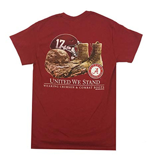 New World Graphics Alabama 2019 United We Stand Short Sleeve Tee Shirt Cardinal Red