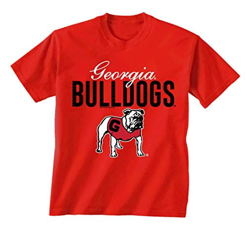New World Graphics UGA Script Georgia Short Sleeve Tee Shirt Red