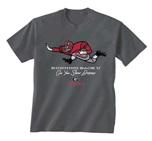 New World Graphics UGA Runner Short Sleeve Tee Shirt Charcoal
