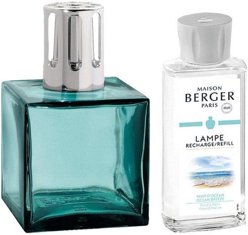 Maison Berger Paris Cube Giftset- Turquoise Cube with Ocean Breeze Fragrence