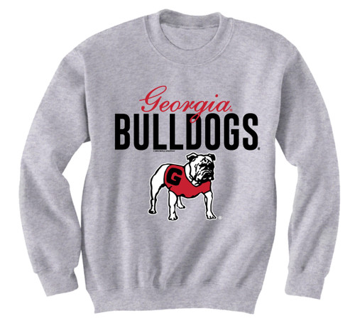 New World Graphics UGA Script Crew Neck Sweatshirt