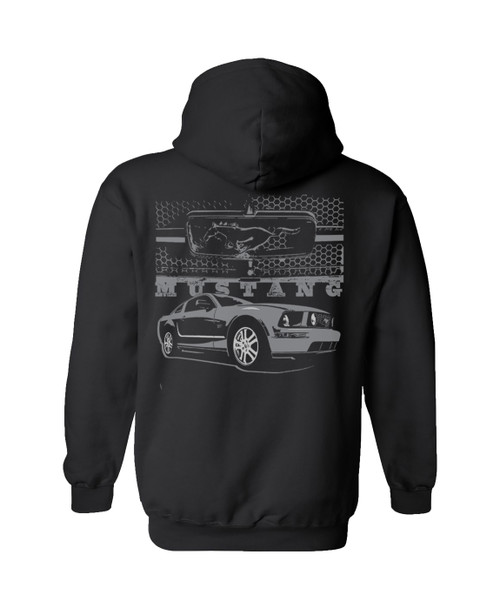 Mustang With Grill-Ford Hoodie Long Sleeve