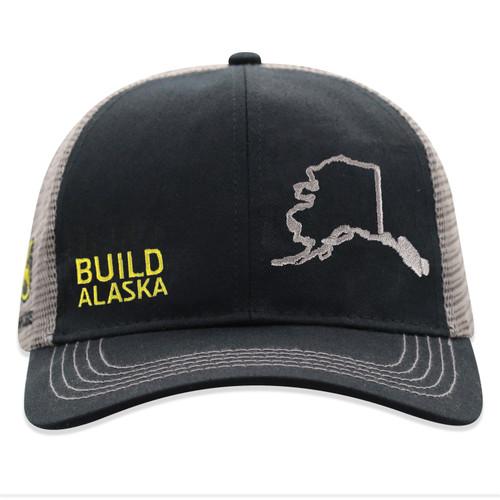 John Deere Build State Pride Cap Black and Gray Alaska