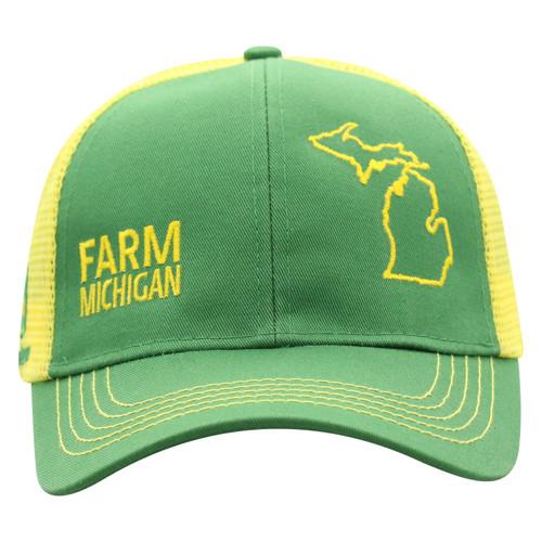 John Deere Farm State Pride Cap Green and Yellow
