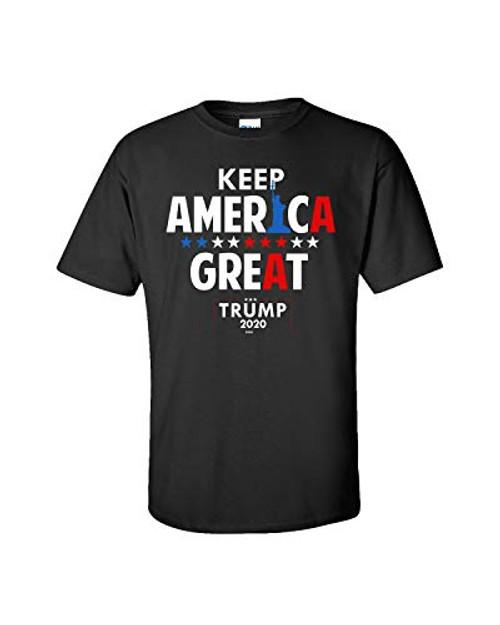 Political Keep America Great Again Adult Tee Shirt Black