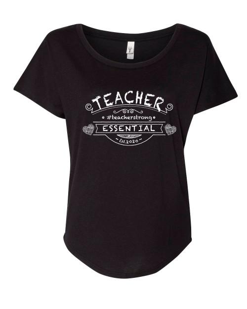 Ladies Teacher Essential Est. 2020 Dolman Short Sleeve Shirt
