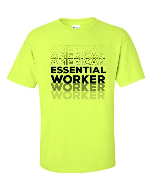 Patriotic American Essential Worker Short Sleeve T-shirt