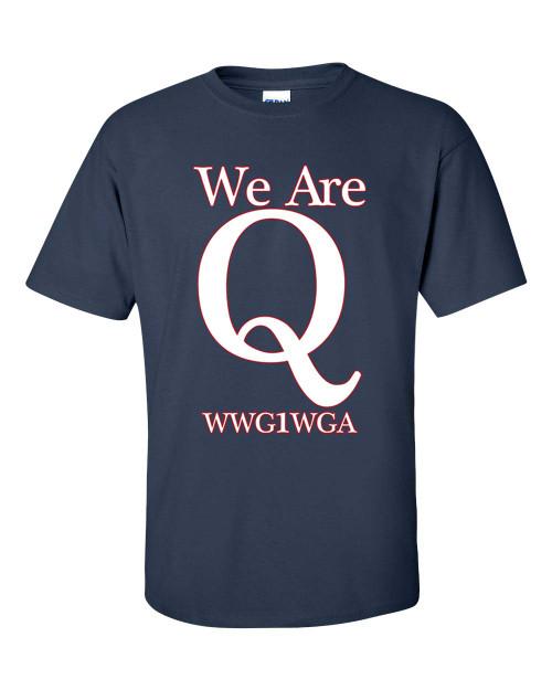 Political President Trump We Are Q WWG1WGA Short Sleeve T-shirt