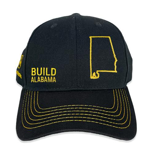 John Deere Build State Pride Full Twill Hat Black and Grey Alabama
