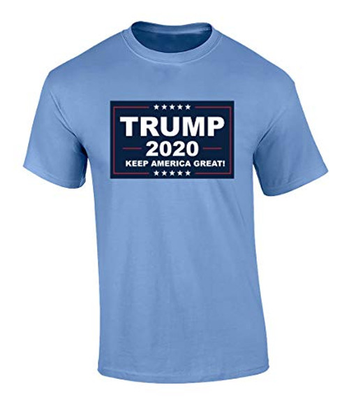 Political Keep America Great Adult Unisex Short Sleeve Tee Shirt Carolina Blue