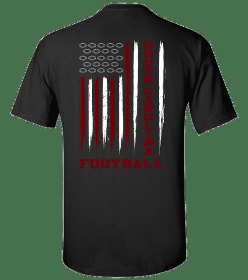 Football Team Colors American Flag Unisex Short Sleeve T-shirt