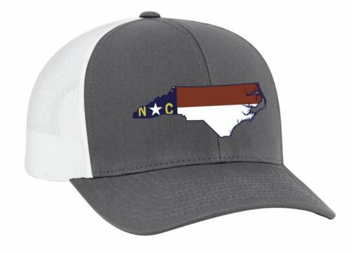 Heritage Pride North Carolina State Flag Embroidered Trucker Mesh Snapback Hat G