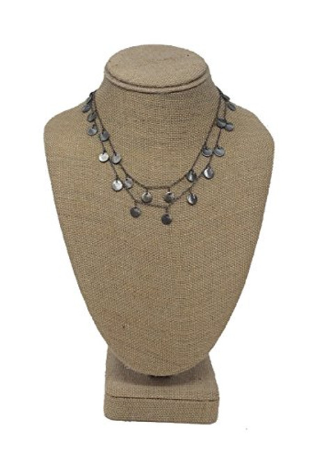 Raw & Rebellious Gunmetal Lust Dynamite Doubled Up Chain Layered Necklace Gunmetal