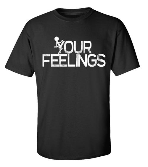 Trenz Shirt Company Your Feelings Stick Figure Unisex Short Sleeve T-shirt